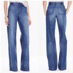 Madewell High Rise Wide Leg Trouser Jeans 29